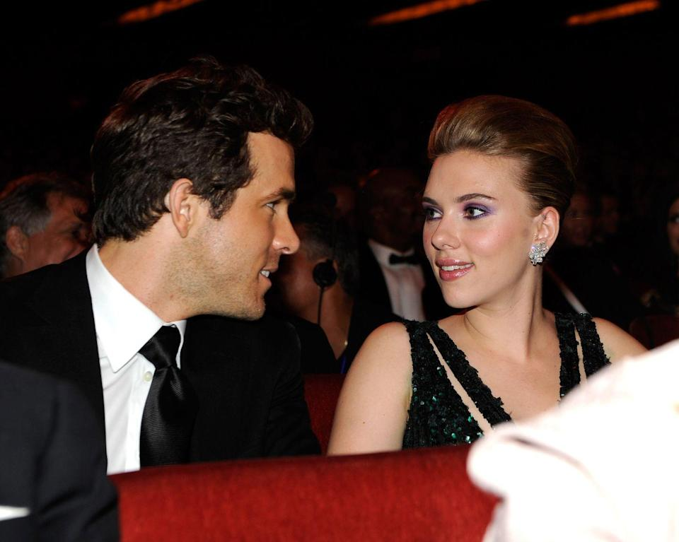 """<p>Reynolds married Johansson in 2008. They officially split up in 2011 with a joint statement that read, """"We entered our relationship with love and it's with love and kindness we leave it. While privacy isn't expected, it's certainly appreciated,"""" according to <a href=""""https://www.eonline.com/news/971823/everything-you-forgot-about-ryan-reynolds-and-scarlett-johansson-s-marriage-and-the-way-it-led-them-to-love-now"""" rel=""""nofollow noopener"""" target=""""_blank"""" data-ylk=""""slk:People"""" class=""""link rapid-noclick-resp""""><em>People</em></a>. </p>"""