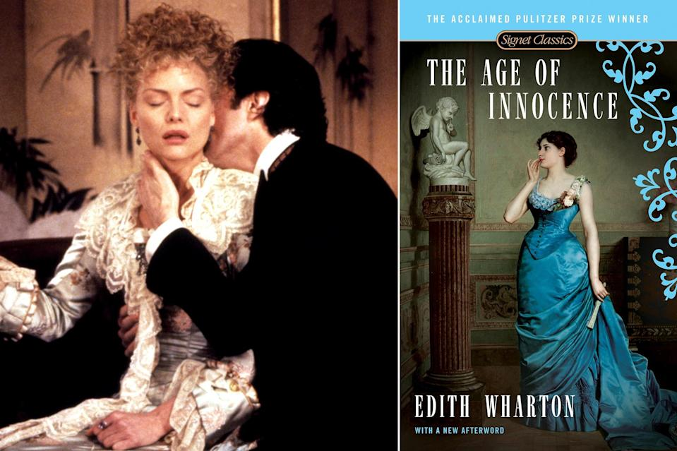 """<p>Edith Wharton's Pulitzer-winning novel sings on the page, the author's deliciously wry prose painting the world of late-1800s, upper-class New York in vivid detail. In <a href=""""http://ew.com/tag/martin-scorsese"""" rel=""""nofollow noopener"""" target=""""_blank"""" data-ylk=""""slk:Martin Scorsese"""" class=""""link rapid-noclick-resp"""">Martin Scorsese</a>'s hands, the remarkably faithful 1993 adaptation sings on screen as well, with those vivid details coming to life through sumptuous production design, costumes, and cinematography. Oh, and there's the story, of course: high-society lawyer Newland Archer (<a href=""""https://ew.com/tag/daniel-day-lewis"""" rel=""""nofollow noopener"""" target=""""_blank"""" data-ylk=""""slk:Daniel Day-Lewis"""" class=""""link rapid-noclick-resp"""">Daniel Day-Lewis</a>) finds himself irresistibly drawn to his fiancée's cousin Ellen (<a href=""""https://ew.com/tag/michelle-pfeiffer"""" rel=""""nofollow noopener"""" target=""""_blank"""" data-ylk=""""slk:Michelle Pfeiffer"""" class=""""link rapid-noclick-resp"""">Michelle Pfeiffer</a>), a free-spirited opposite to Archer's bride-to-be (<a href=""""https://ew.com/tag/winona-ryder"""" rel=""""nofollow noopener"""" target=""""_blank"""" data-ylk=""""slk:Winona Ryder"""" class=""""link rapid-noclick-resp"""">Winona Ryder</a>). Their forbidden, simmering romance anchors an enveloping portrait of a bygone era and a caste as vicious, in its own way, as any of the Mafia clans in Scorsese's crime movies.</p>"""