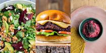 """<p><a href=""""https://www.delish.com/uk/cooking/a28963154/how-to-roast-beetroot/"""" rel=""""nofollow noopener"""" target=""""_blank"""" data-ylk=""""slk:Beetroot"""" class=""""link rapid-noclick-resp"""">Beetroot</a> is a pretty well rounded vegetable. It's rich in iron and healthy antioxidants, and is also useful in helping lower blood pressure. So, why don't we eat it more often? Well, maybe we're a little scared. But there's no need to be! With everything from <a href=""""https://www.delish.com/uk/cooking/recipes/a33583195/beetroot-hummus/"""" rel=""""nofollow noopener"""" target=""""_blank"""" data-ylk=""""slk:Beetroot Hummus"""" class=""""link rapid-noclick-resp"""">Beetroot Hummus</a> to <a href=""""https://www.delish.com/uk/cooking/recipes/a30499350/vegan-burger/"""" rel=""""nofollow noopener"""" target=""""_blank"""" data-ylk=""""slk:Vegan Beetroot Burgers"""" class=""""link rapid-noclick-resp"""">Vegan Beetroot Burgers</a> to try out, there's plenty of ways to cook with this colourful ol' vegetable. Check out our favourite beetroot recipes now. </p>"""