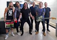 <p>The Foo Fighters stop for a moment backstage at Madison Square Garden on June 20 ahead of the first post-pandemic concert at the venue for fully vaccinated fans.</p>
