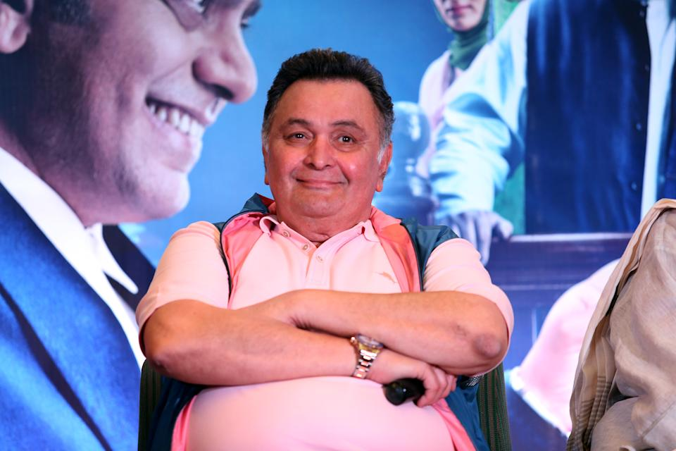NEW DELHI, INDIA  JULY 23: Bollywood actor Rishi Kapoor during promotion of his upcoming film Mulk at India habitat center on July 23, 2018 in New Delhi, India. (Photo by Amal Ks/Hindustan Times via Getty Images)