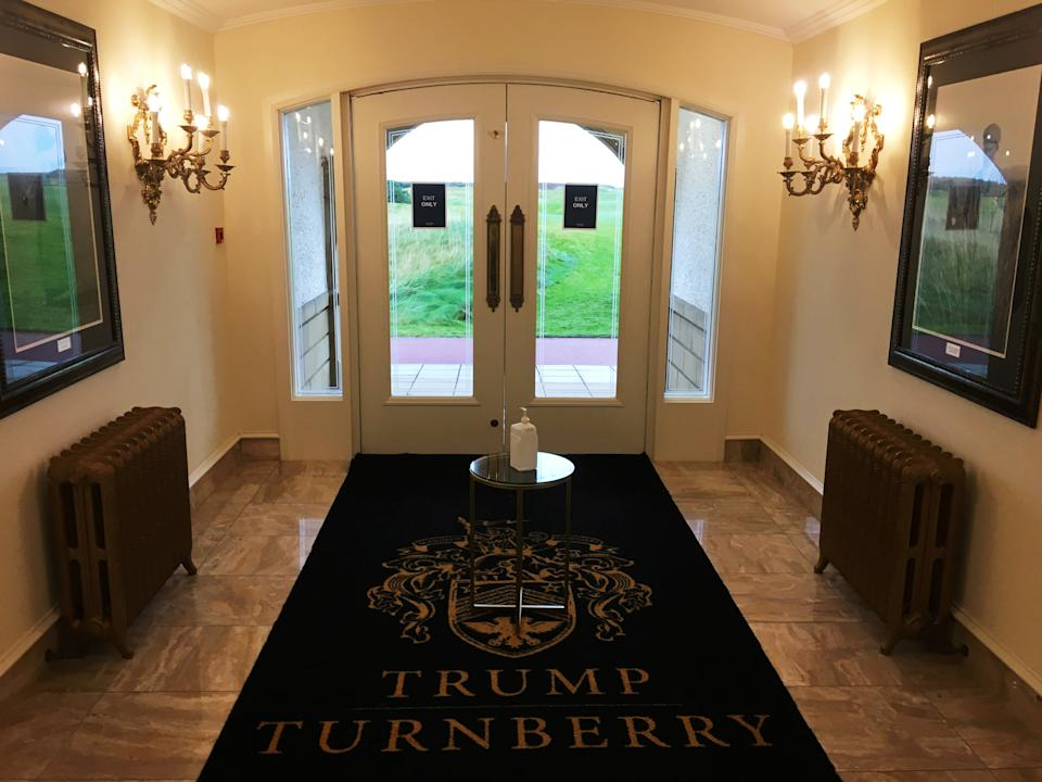 <p>The lobby of the clubhouse at Trump Turnberry</p>Reuters