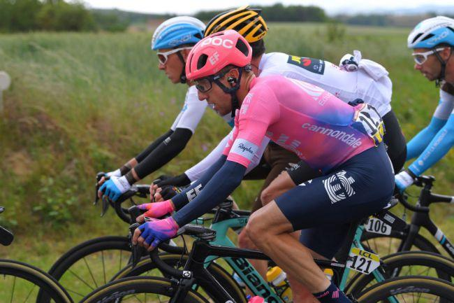 Michael Woods (EF Education First) in the bunch during stage 2 at the 2019 Criterium du Dauphine