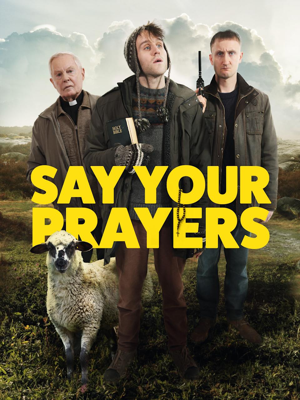 Derek Jacobi, Harry Melling and Tom Brooke in the <i>Say Your Prayers</i> poster (Central City Media)