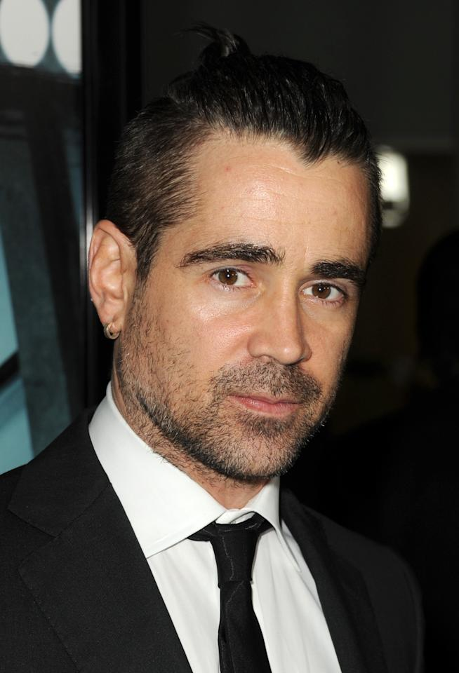 "HOLLYWOOD, CA - FEBRUARY 26:  Actor Colin Farrell arrives to the premiere of FilmDistricts's ""Dead Man Down"" at ArcLight Hollywood on February 26, 2013 in Hollywood, California.  (Photo by Kevin Winter/Getty Images)"