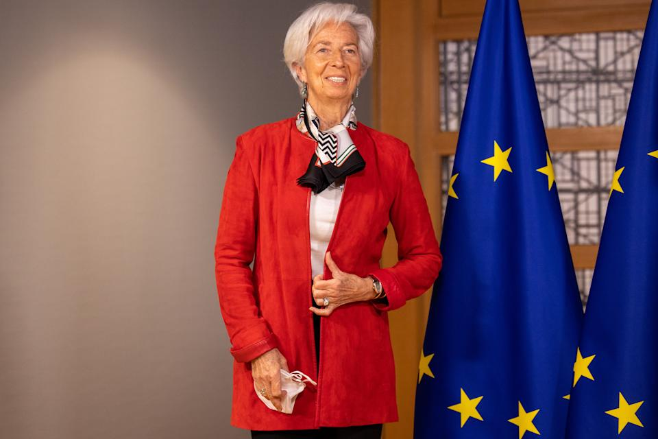 ECB president Christine Lagarde. Photo: Olivier Matthys/ Pool/Anadolu Agency via Getty Images