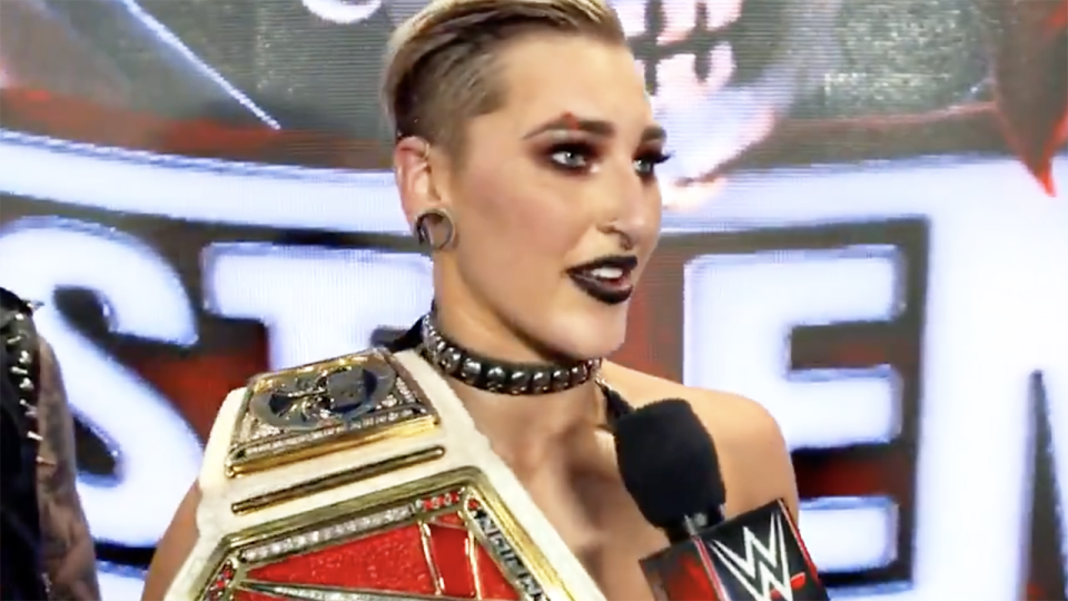 Rhea Ripley has become the first Australian to win at Wrestlemania, defeating Asuka for the RAW Women's Championship. Picture: WWE