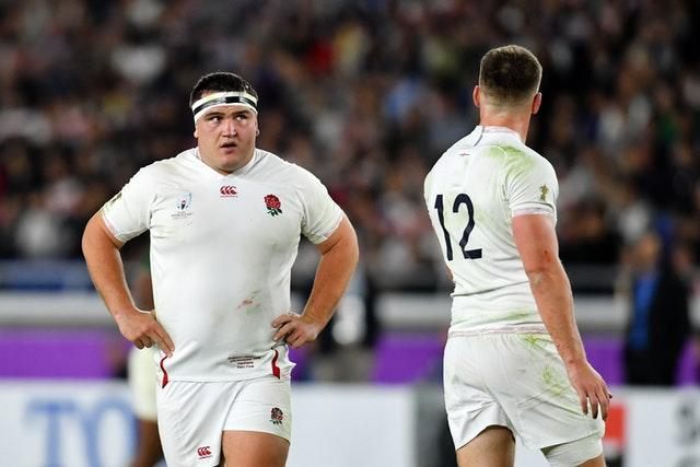 Jamie George (left) was left despondent by England's World Cup final defeat