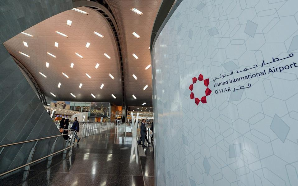 The baby was found at Hamad International Airport in Doha - EPA/STR