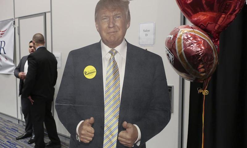 A cardboard cutout of Donald Trump in Kansas: not the item in question.