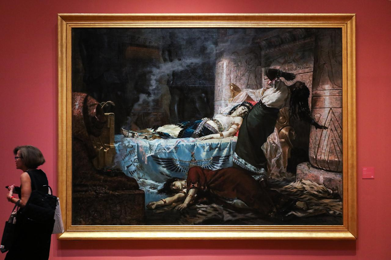 <p>Highlights of the Juan Luna works on display include Cleopatra (1881) – a dramatic depiction of Cleopatra's death which won him his first major prize in Europe. (Photo: Don Wong for Yahoo Lifestyle Singapore) </p>