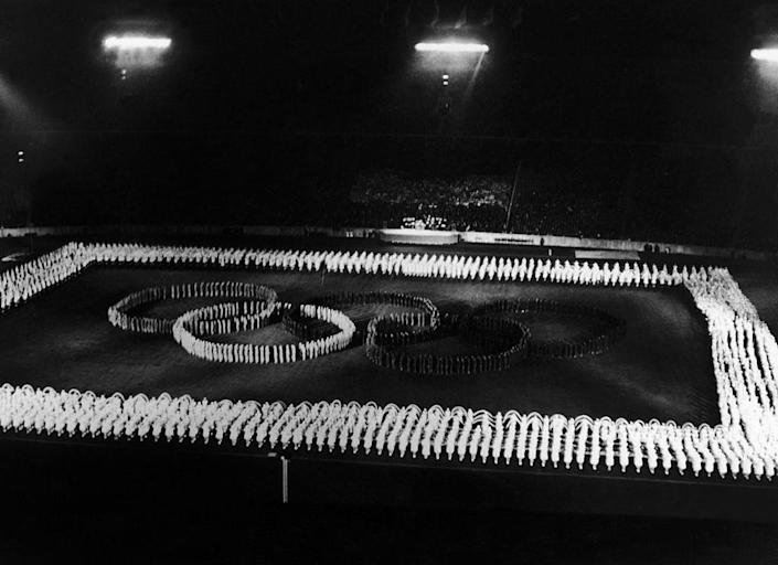 """<p>Both the Winter and Summer Olympics of 1936 were held amidst controversy, as Adolf Hitler would use both Games in an attempt to spread propaganda. A boycott of the Summer Games (later referred to as the """"Nazi Olympics"""") would prove unsuccessful. For the opening ceremony, one tradition emerged that still goes on today: the Olympic torch relay. </p>"""