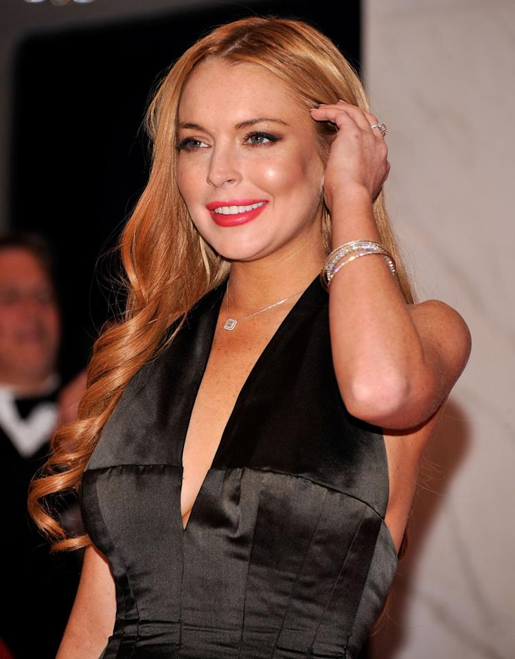 WASHINGTON, DC - APRIL 28:  Lindsay Lohan attends the 98th Annual White House Correspondents' Association Dinner at the Washington Hilton on April 28, 2012 in Washington, DC.  (Photo by Stephen Lovekin/Getty Images)