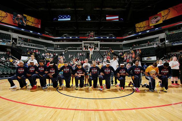 The Indiana Fever, prior to their loss to the Phoenix Mercury. (Getty Images)