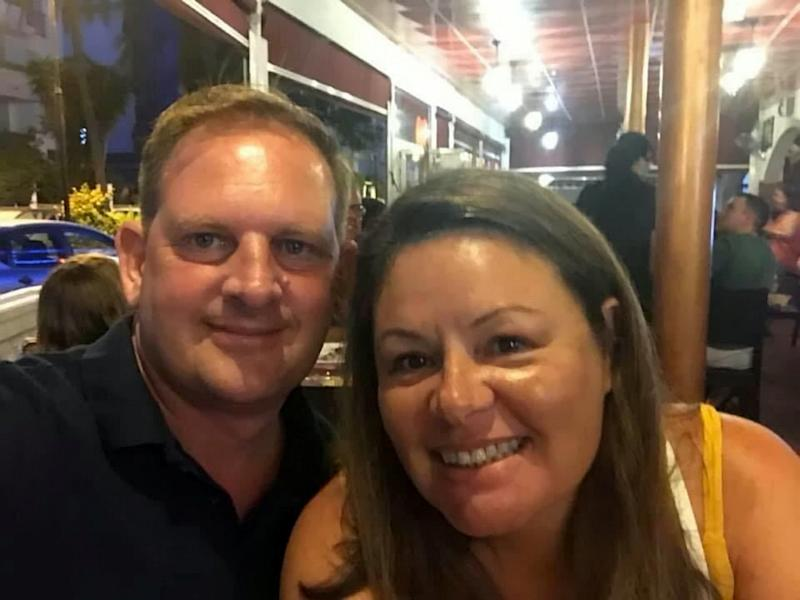 """Kevin and Laura Tanner. See SWNS story SWCAwife. A grieving husband has spoken out about the """"horrific"""" moment his NHS worker wife died in his arms whilst struggling to breathe, following a gruelling Covid-19 battle. Mum-of-two Laura Tanner, 51, died on April 1, gasping for breath in husband Kevin's arms as the pair waited for paramedics to arrive. Both Laura and Kevin, 49, as well as Laura's youngest son Kian, 13, had fallen ill with """"nasty fly-like symptoms"""" less than two weeks before, and followed all government advice. But while Kevin recovered within days, Laura deteriorated - with her temperature soaring to more than 40 degrees."""