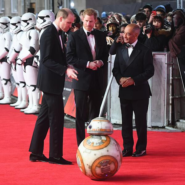 The princes visited the set of Episode VIII in April 2016.