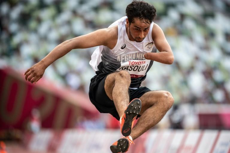 Afghanistan's Hossain Rasouli nearly missed out on the Paralympics after his country fell to the Taliban (AFP/Philip FONG)
