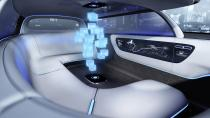 """<p>It's the interior that gets most of Mercedes' designers attention — a limo-like space that gives in to the idea of car as nightclub first and transportation second. Mercedes says if the car is driving itself, the imagined occupants would rather """"chill and chat"""" than be forced to face forward.<br></p>"""