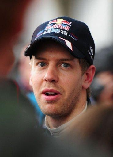 Red Bull-Renault driver Sebastian Vettel of Germany talks to the media after finishing 11th fastest during the qualifying session of Formula One's Chinese Grand Prix at the Shanghai International Circuit. Vettel, the two-time reigning world champion, failing to make the third qualifying stage with his surprisingly lacklustre time of 1:36.031