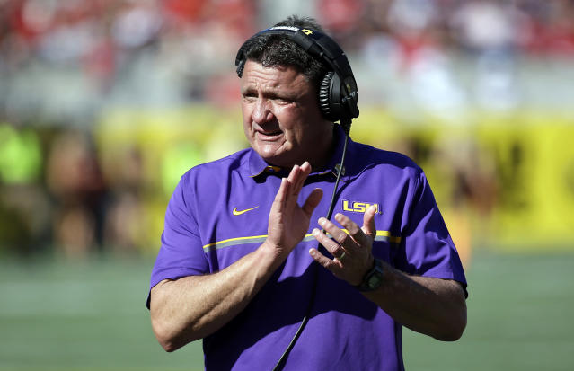 Will LSU have patience for Ed Orgeron as he enters his first year as non-interim head coach? (AP)