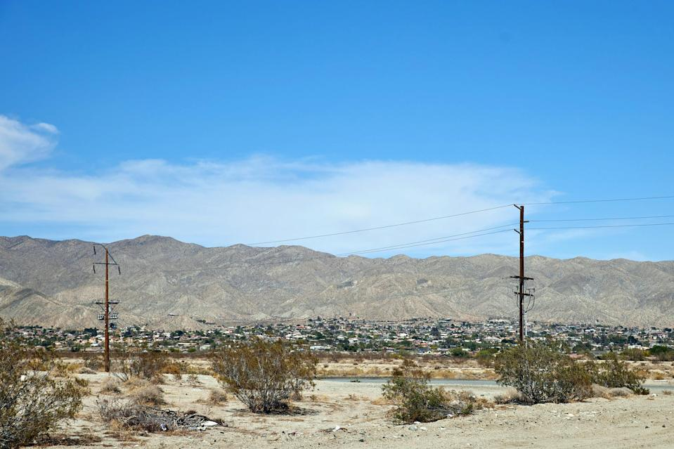 Image: The town of Desert Hot Springs, Calif. (Maggie Shannon / for NBC News)