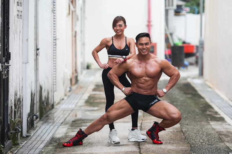 Desmond Lee and Gladys Leong run the Hercules Fitness gym together. (PHOTO: Cheryl Tay)