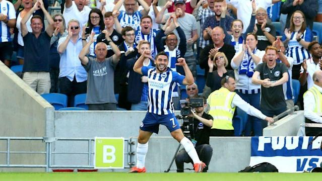 Brighton and Hove Albion's Neal Maupay (Photo by Gareth Fuller/PA Images via Getty Images)