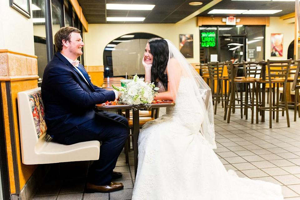 Jeffery and Skylain Clarke at this favorite fast food joint. (Photo: Nikki B Photography)