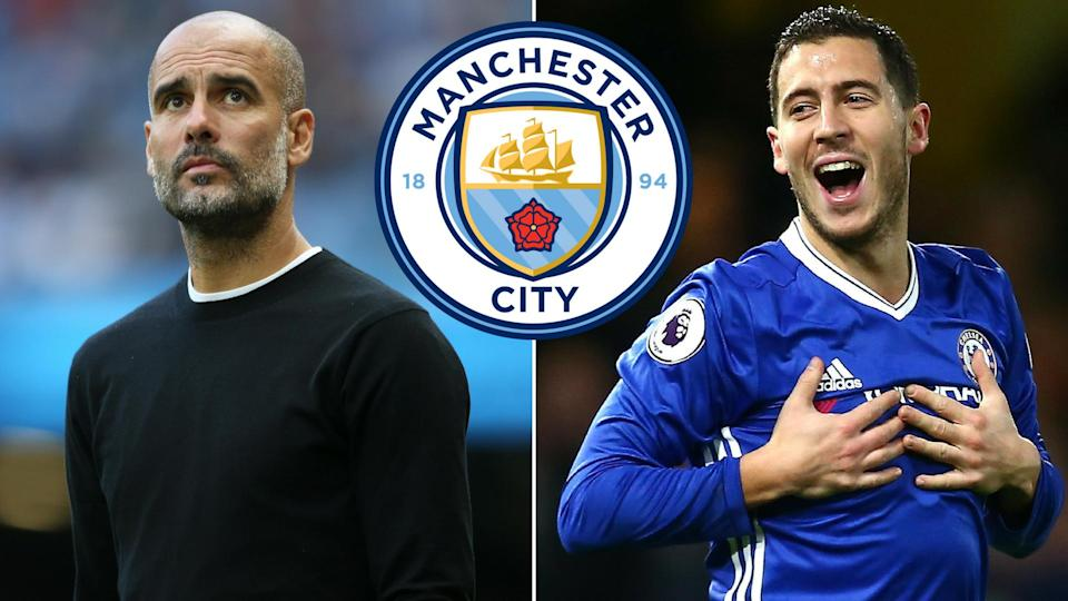 Manchester City are reportedly weighing up a move for Chelsea star Eden Hazard
