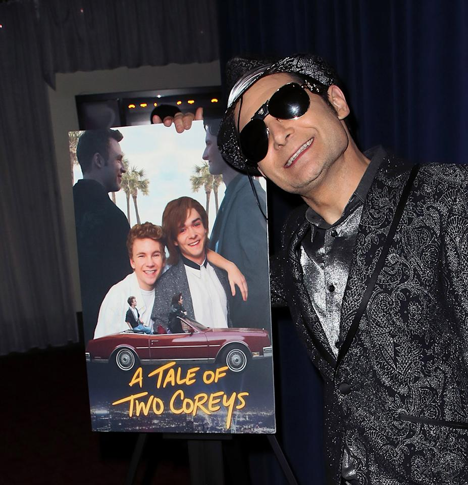 <p>The '80s movie star attended a screening of <em>A Tale of Two Coreys</em> in Sherman Oaks, Calif., on Thursday. The Lifetime original movie is the story of Feldman and his best friend, the late Corey Haim, as they dealt with fame, fortune — and the consequences of growing up in the limelight. (Photo: David Livingston/Getty Images) </p>