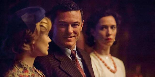Bella Heathcote, Luke Evans and Rebecca Hall in <em>Professor Marston & the Wonder Women</em> (Photo: TIFF)