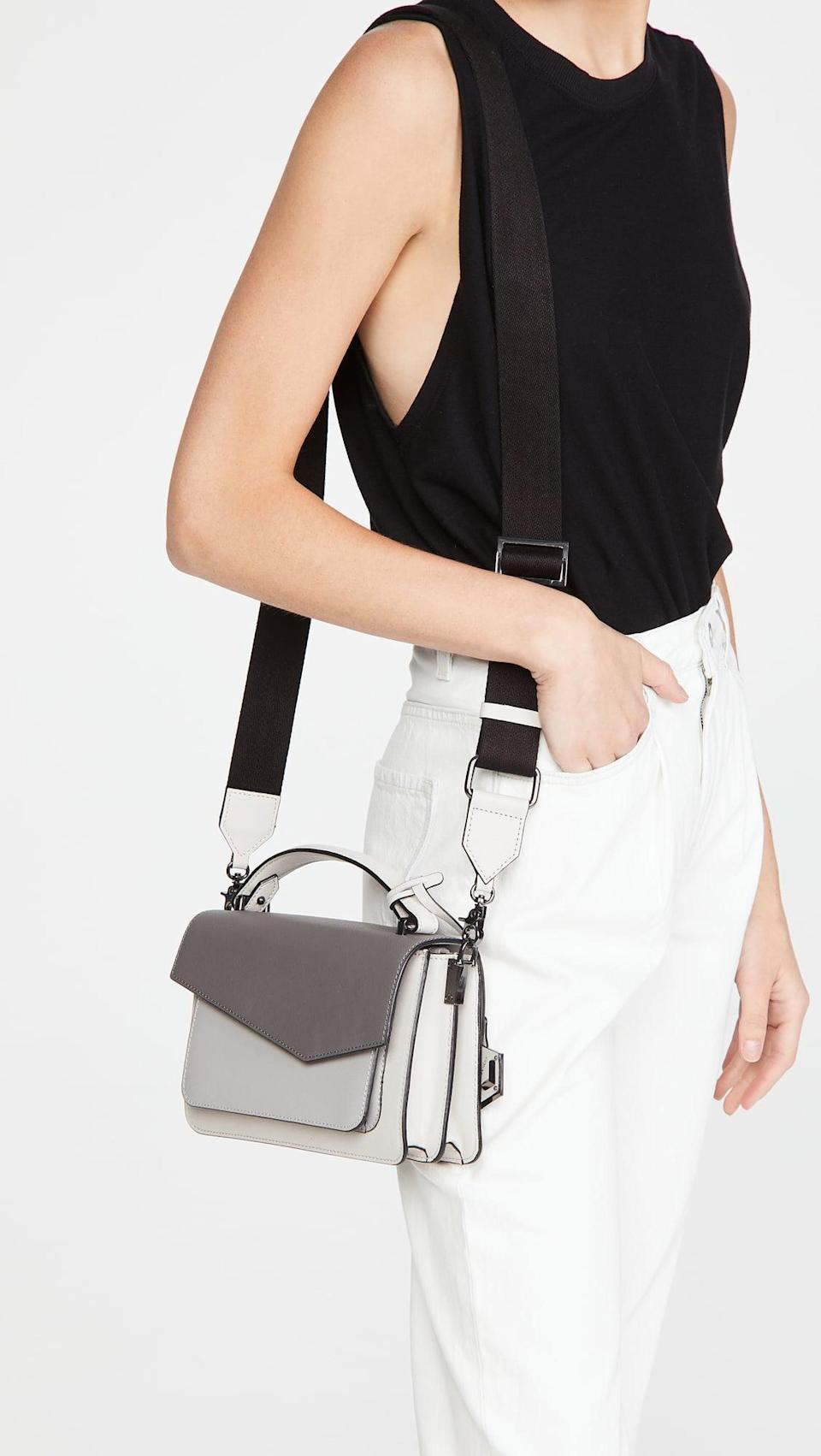 <p>The thick and sporty strap on this <span>Botkier Cobble Hill Crossbody Bag</span> ($198) looks so comfortable and it's also adjustable.</p>
