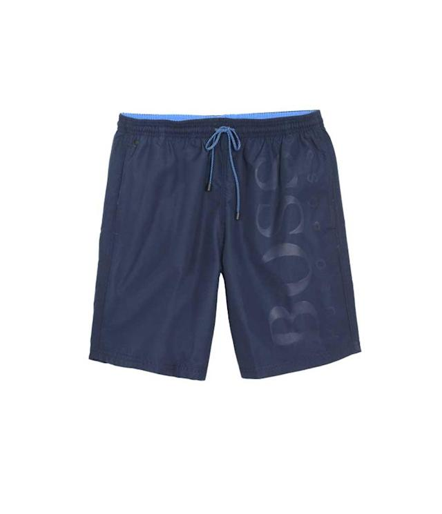 "<p>Boss Men's Orca Solid Swim Trunk in Navy/Teal, $74 + 30% off, <a href=""https://www.amazon.com/dp/B00R9DE6AQ?th=1"" rel=""nofollow noopener"" target=""_blank"" data-ylk=""slk:amazon.com"" class=""link rapid-noclick-resp"">amazon.com</a> </p>"