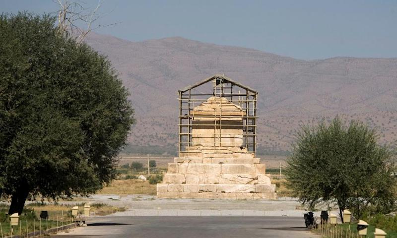FILE PHOTO: The tomb of Cyrus the Great, a revered King of the Persian Empire, is seen at Pasargadae outside Shiraz, south of Tehran, September 24, 2007. REUTERS/Caren Firouz/File Photo