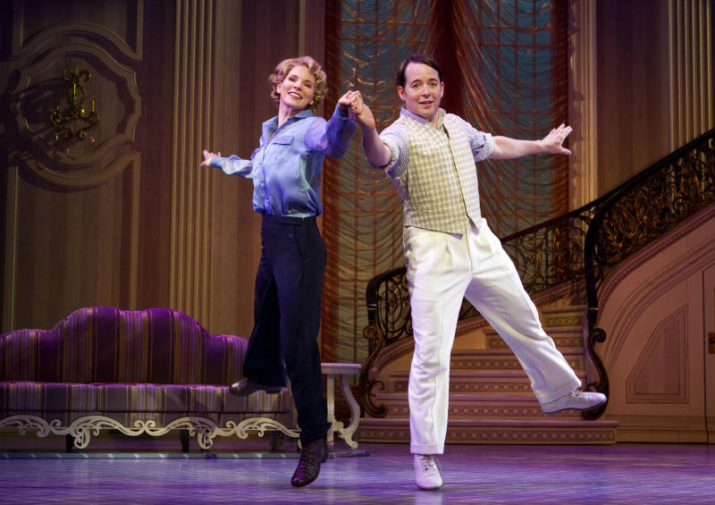 "In this publicity photo provided by Boneau/Bryan-Brown, Kelli O'Hara, left, and Matthew Broderick perform in the new musical comedy ""Nice Work If You Can Get It"" at Broadway's Imperial Theatre in New York. (AP Photo/Boneau/Bryan-Brown, Joan Marcus)"