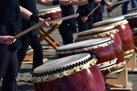 Japanese taiko drumming - Credit: Getty
