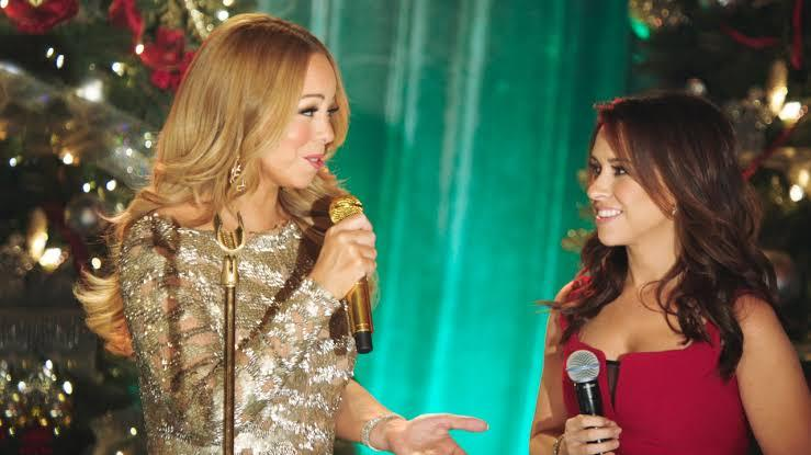 Mariah Carey and Lacey Chabert on Mariah Carey's Merriest Christmas on Netflix