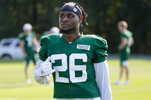 The Jets' Le'Veon Bell is returning to the field for the first time since sitting out the 2018 season over a contract extension dispute with the Steelers. (AP)