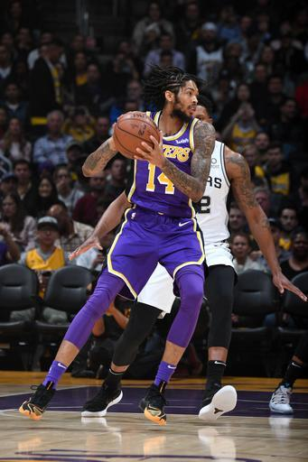 LOS ANGELES, CA - DECEMBER 5: Brandon Ingram #14 of the Los Angeles Lakers handles the ball against the San Antonio Spurs on December 5, 2018 at STAPLES Center in Los Angeles, California. (Photo by Andrew D. Bernstein/NBAE via Getty Images)