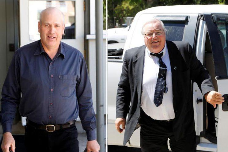 James Oler, left, and Winston Blackmore, right, face five years in prison (Picture: Reuters)
