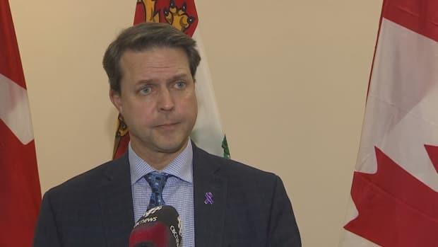 Social Development and Housing Minister Brad Trivers says the pregnancy food allowance rate will be going up, as well as optical rates. (Kin Linton/CBC - image credit)