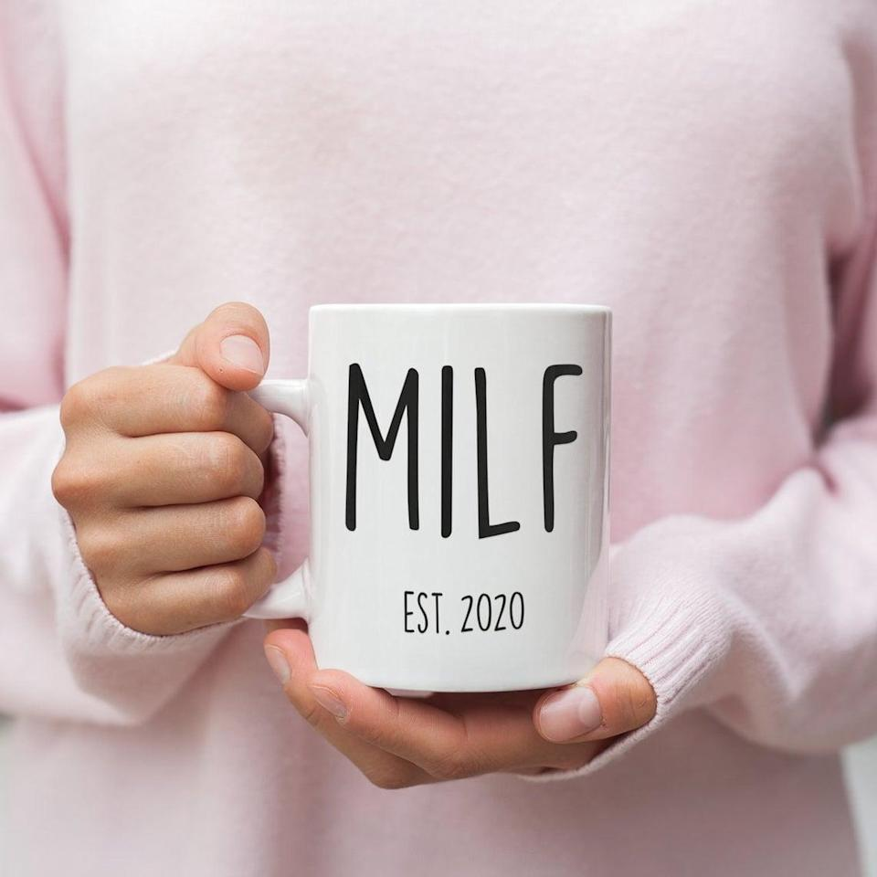 <p>Give an expecting mom with a sense of humor a serious laugh with this hilarious <span>MILF Mug</span> ($15).</p>