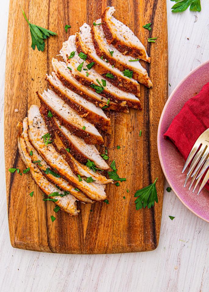 "<p>The Crockpot is about to make Christmas dinner SO much easier.</p><p>Get the recipe from <a href=""https://www.delish.com/cooking/recipe-ideas/a29251509/crockpot-turkey-breast-recipe/"" target=""_blank"">Delish</a>. </p>"