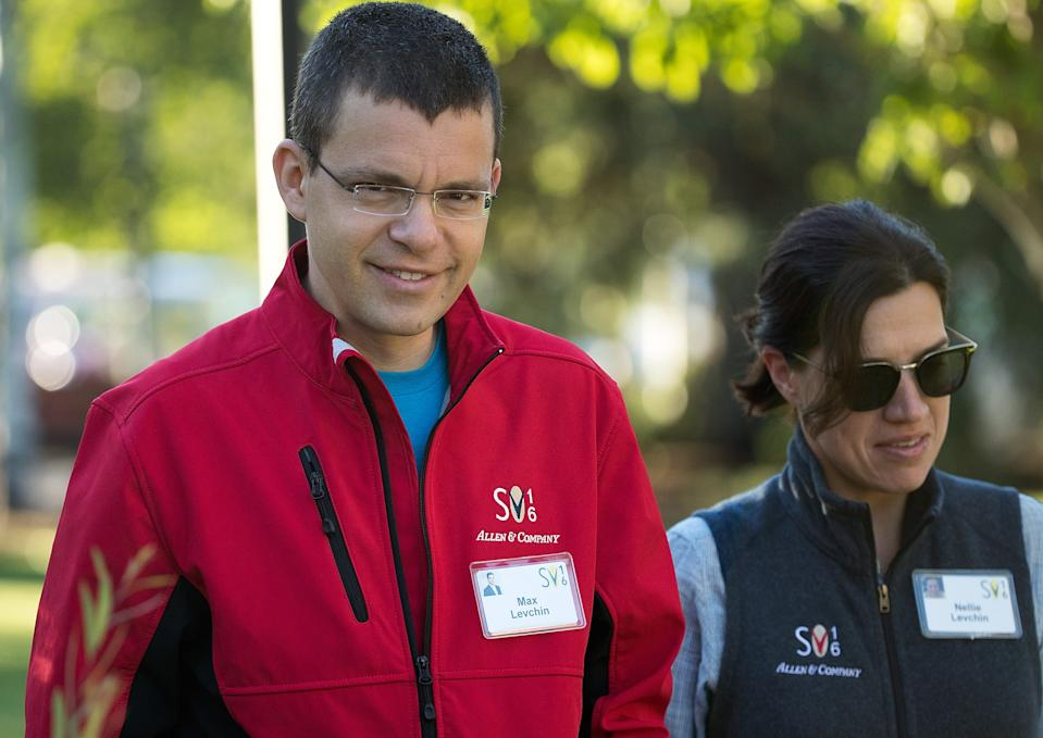 Max Levchin (left), the former chief technology officer of PayPal.