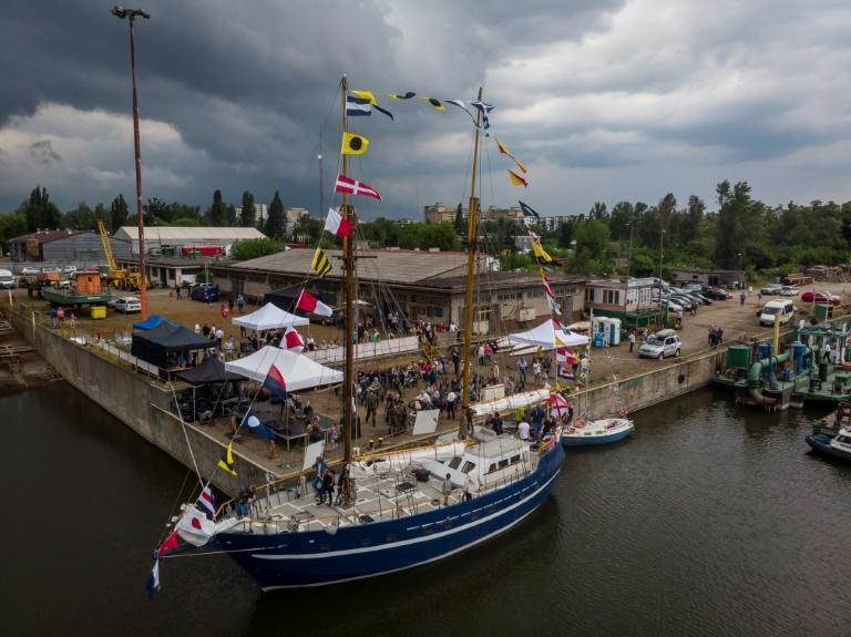 """The """"Father Boguslaw"""" is a steel schooner, built partly by homeless people in Warsaw"""