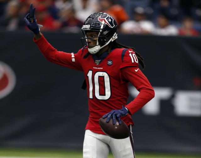 DeAndre Hopkins was traded from the Texans to Cardinals, though the trade isn't finalized. (Photo by Bob Levey/Getty Images)
