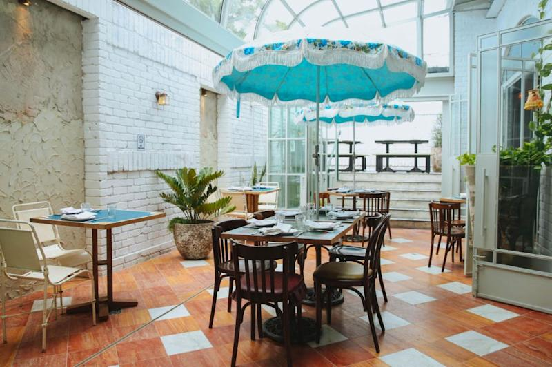 The gorgeous new fit out at Priscilla's includes a garden glasshouse, perfect for those long, lazy lunches in the sun. Photo: The Imperial Erskineville