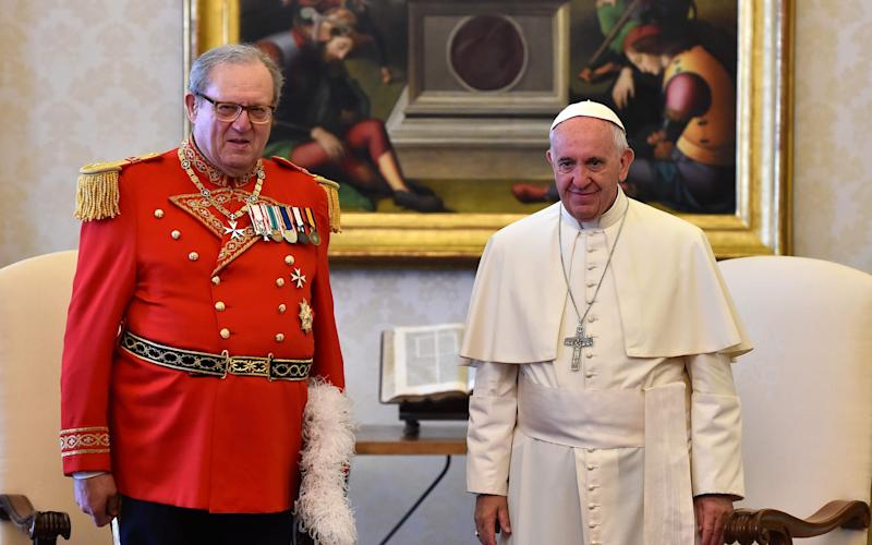 Matthew Festing, the British head of the Knights of Malta, tendered his resignation to Pope Francis in January after a bruising row over condom distribution. - AFP or licensors