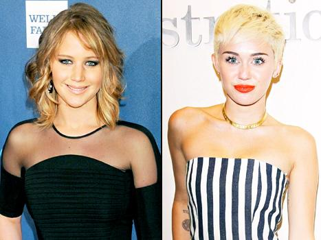 Jennifer Lawrence's 8-Inch Haircut: Miley Cyrus Loves It!