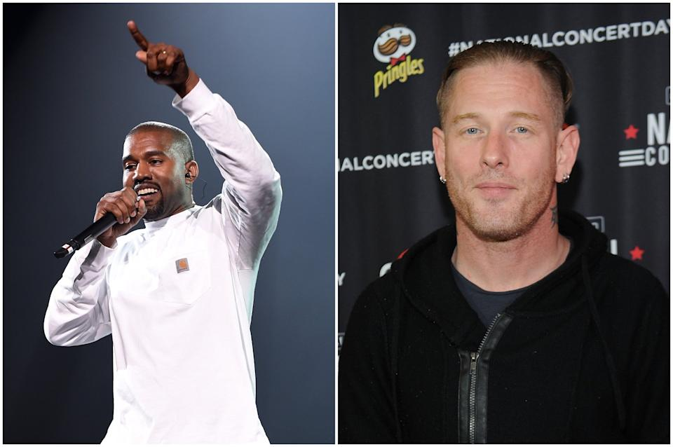 Corey Taylor has suggested Kanye West's behaviour has been exacerbated by fame and money: Getty